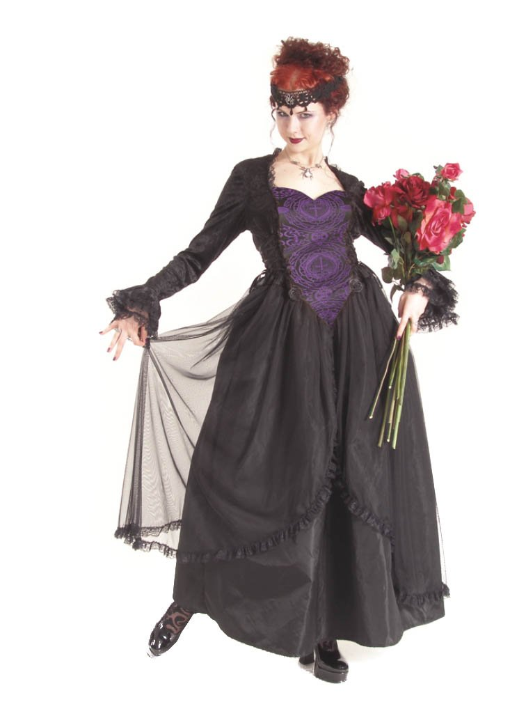Eternal Love Plus Size Violet Gothic Sacred Heart Belle Dame Wedding Gown Dress (4X)