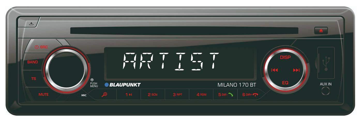 Profiversion Quadlock caraudio24 Blaupunkt Milano 170 BT SD Bluetooth USB MP3 CD Autoradio f/ür BMW 3er E46