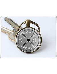 Dumbbell Keychain Barbell Keyring