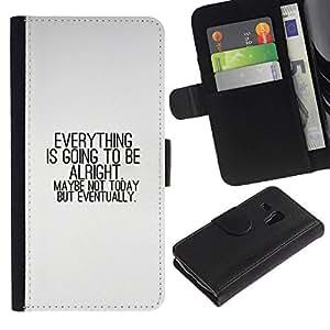 NEECELL GIFT forCITY // Billetera de cuero Caso Cubierta de protección Carcasa / Leather Wallet Case for Samsung Galaxy S3 MINI 8190 // TODO VA A ESTAR BIEN