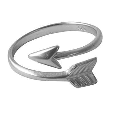 apop nyc Sterling Silver Chevron Arrow Band Ring [Sizes 4-10] Adjustable