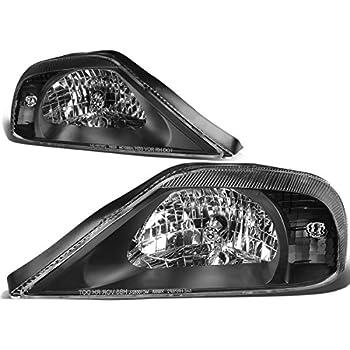 for 00-05 mercury sable sedan black housing headlights/lamps - pair
