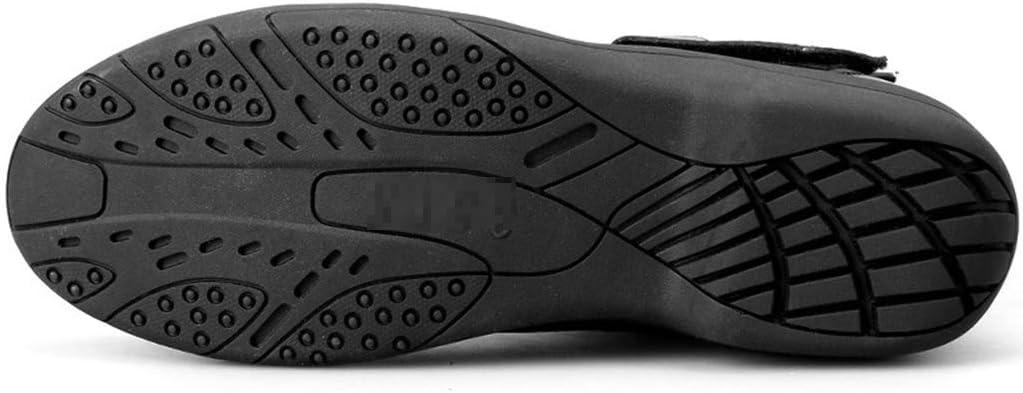 NHX Botas de Moto Impermeable Hombre Calzado Deportivo Protecci/ón Motocross Botas de Carretera Zapatos Antideslizantes de Carreras Botas de Montar locomotoras,Black-43