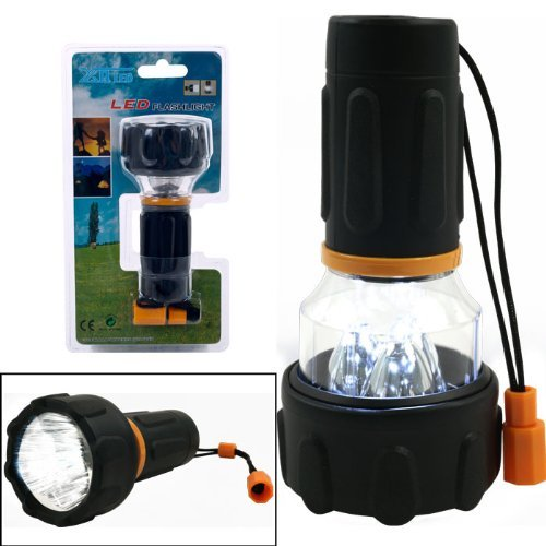 Happy Camper 3 LED Flashlight and Lantern Combo Bright & Powerful