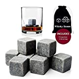 Whiskey Stones drink accessories Reusable Ice Cubes Whiskey or all drinks Whiskey Rocks Set of 9 Soapstone stones whiskey gifts Whiskey Rocks-Long lasting w/velvet bag bar accessories sipping stones