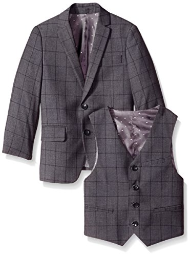 Isaac Mizrahi Little Boys' 3 Piece Check Suit, Grey, 3 by Isaac Mizrahi (Image #3)