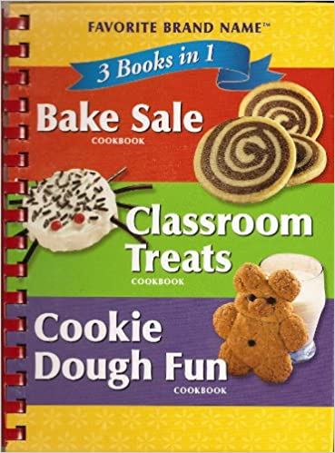 3 Cookbooks In 1 Classroom Treats Bake Sale Cookie Dough Fun