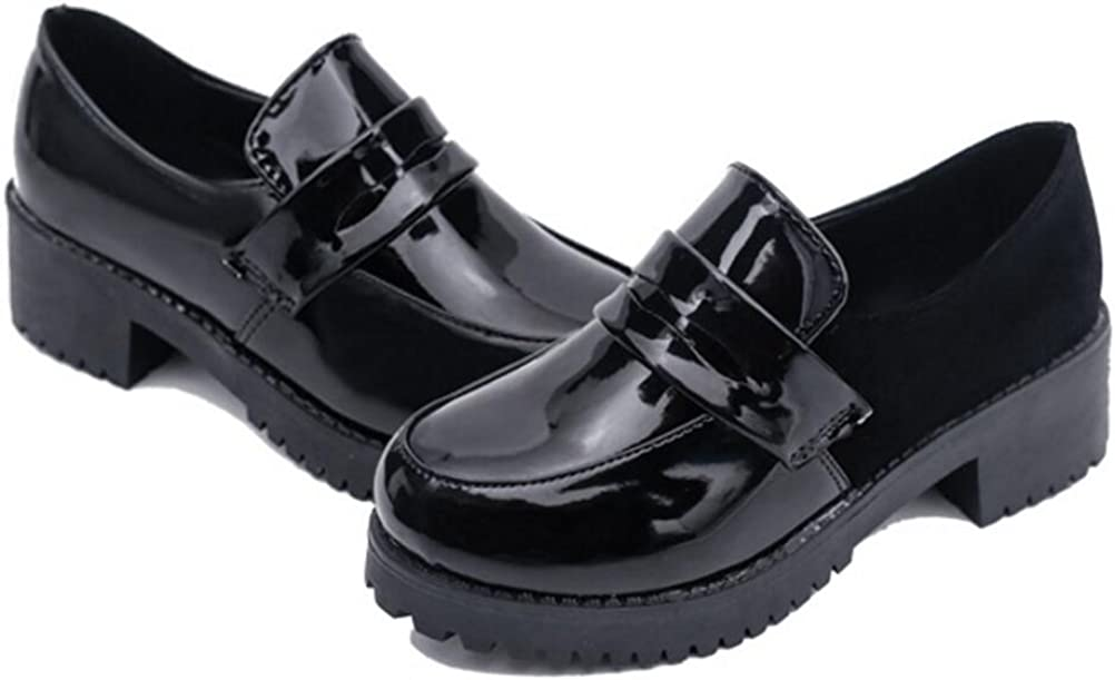 Amazon.com: Women's Girl's Low Top Japanese Students Maid Uniform Dress  Shoes Oxford Shoes: Shoes