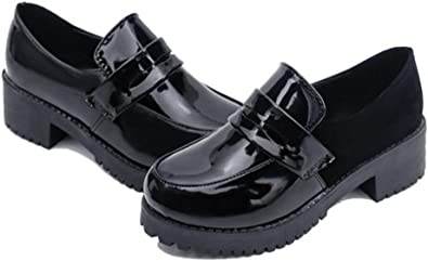 Womens Girls Lolita Low Top Japanese Students Maid Uniform Dress Shoes Oxford Shoes