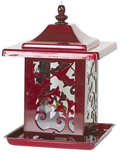 Homestead 4485 Hummingbird Bird Feeder, Jolly Pop Red
