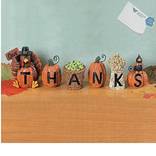 Bargain World Resin ''Give Thanks'' Blocks (With Sticky Notes) (Give Thanks Blocks)