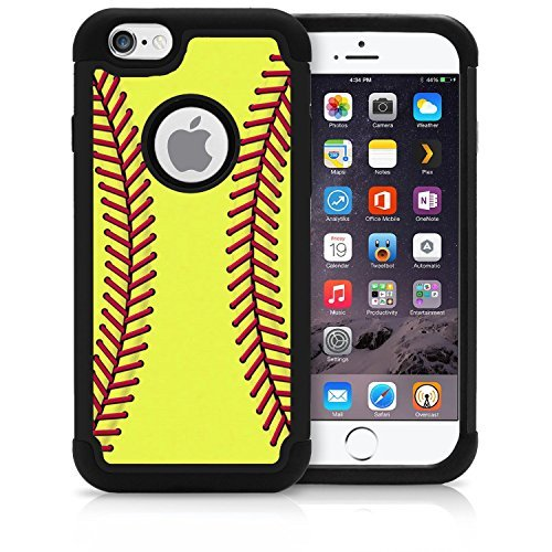 Corpcase - Hybrid Case for iPhone 6 / iPhone 6S - Softball/Unique Case with Great Protection