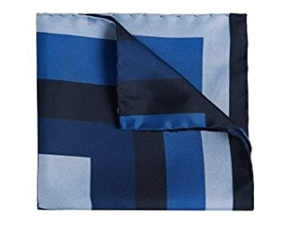 Boss Hugo Boss Tailored - T-Pocket 33 x 33 cm Italian Silk Square by BOSS Blue 50310921
