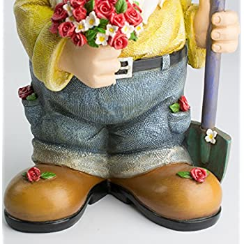 Twig & Flower The Beautiful Gift of Flowers Gnome - 9.5 Inches Tall - Hand Painted and Adorably Designed by