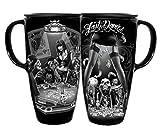 DGA Day of the Dead Rockabilly Skulls Last Dance/Last Call Coffee Travel Cruzer Mug