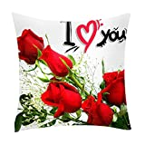 NUWFOR Print Pillow Case Polyester Sofa Car Cushion Cover Home Decor(A)