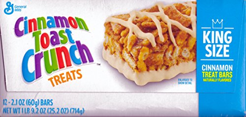 Cinnamon Toast Crunch - Kids Favorite Treat -2.1Oz. -12 King Size Breakfast Bars