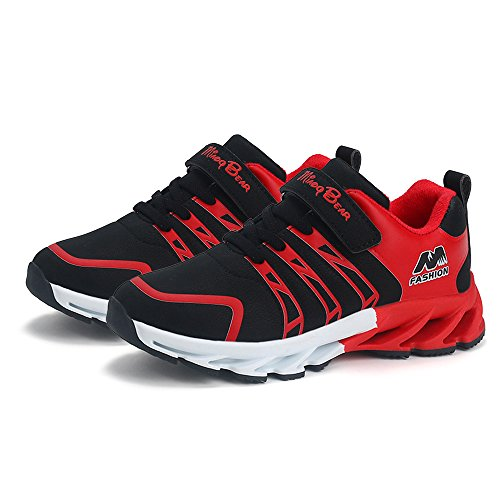 SITAILE Kids Lightweight Sneakers Casual Running Shoes Outdoor Walking Athletic Sport Shoes For Boys and Girls Black-1 31