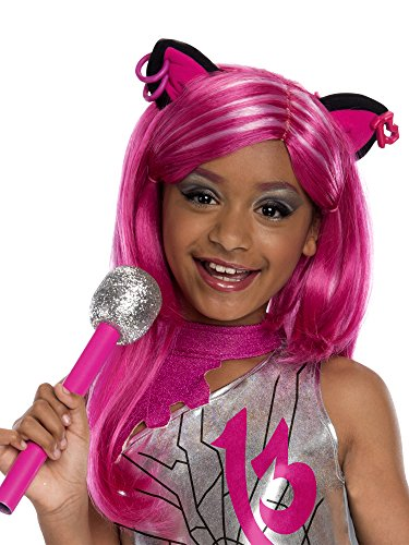Rubies Monster High Frights Camera Action Catty Noir Wig, Child Size -