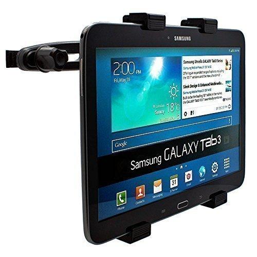 mobilefox® 360° KFZ Kopfstützen Halterung Tablethalterung Auto Sitzhalterung Headrest Holder Halter für Tablet PC Samsung Galaxy Tab 4 / 3 / 2 / S / A / Note / NotePRO/ TabPRO / Active / Ativ / Ativ Q / Lite 7 / 7.0 / 7.7 / 8.0 / 8.4 / 8.9 / 10.1 / 10.5 / 12.2