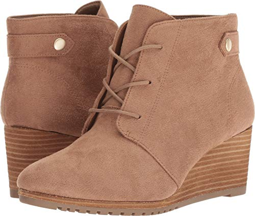 Dr. Scholl's Shoes Women's Conquer Ankle Boot, Toasted Coconut Microfiber, 8 M US