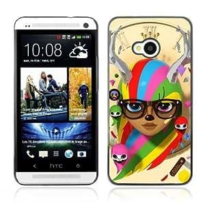 YOYOSHOP [Colorful Cute Illustration] HTC One M7 Case