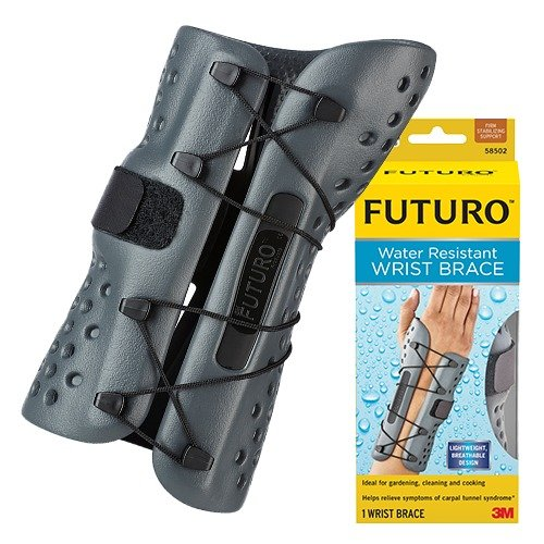 (Futuro Water Resistant Wrist Brace, Firm Stabilizing Support, Left Hand, Small/Medium)