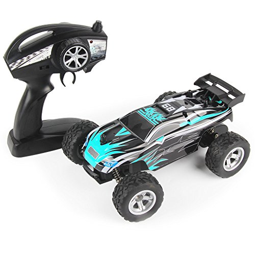 RC Car 1/24 Scale 2.4Ghz Off-Road Vehicle Auto High Speed Monster Truck Remote Control Buggy RTR 15Km/h Blue