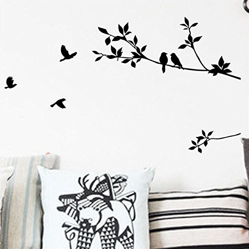 New Removable Wall Stickers Decals Bird Tree Branch Vinyl Quote Mural Home - Shopping Mirror Mumbai