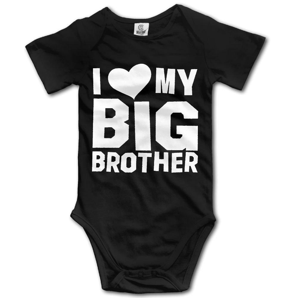 Dream-R I Love My Big Brother Newborn Babys Boy's & Girl's Short Sleeve Bodysuit Outfits For 0-24 Months Black Size Newborn