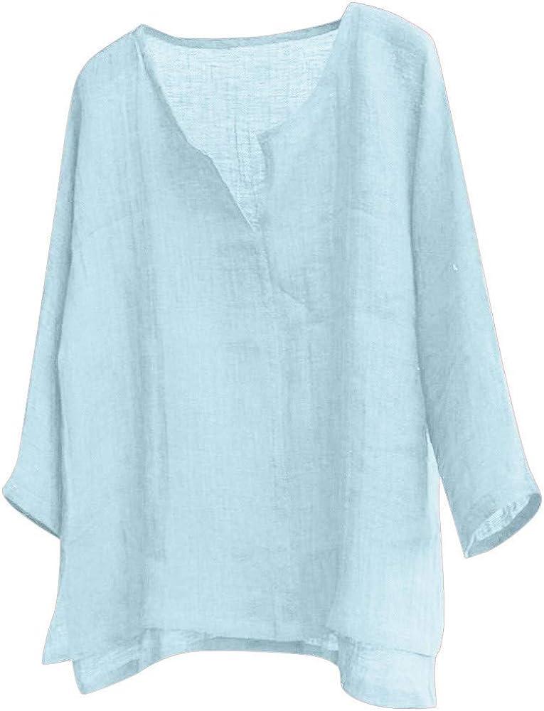 MEIbax Camisetas para Hombre cómoda y Transpirable Algodón y Lino ...