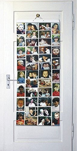 Thinking Gifts Picture Pockets Photo Hanging Display, 80 photos in 40  pockets, Mega,