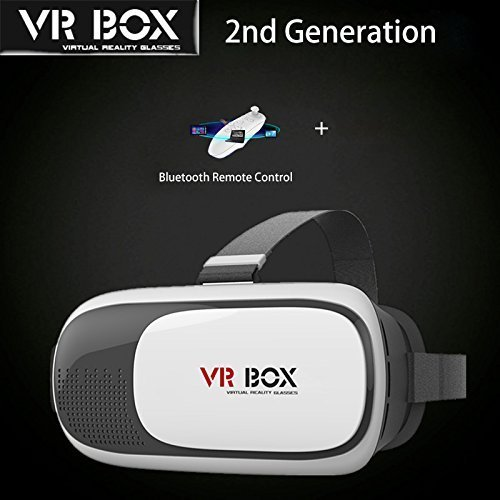 Google Cardboard 2nd Generation VR BOX Virtual Reality 3D Video Games Glasses for iOS Android Smartphone + Bluetooth Controller