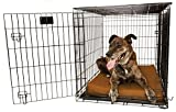 Orthopedic 4'' Dog Crate Pad by Big Barker - 42'' x 28''. Waterproof & Tear Resistant. Thick, Heavy Duty, Tough, Washable Cover. Luxury Orthopedic Support Foam inside. Made in USA.