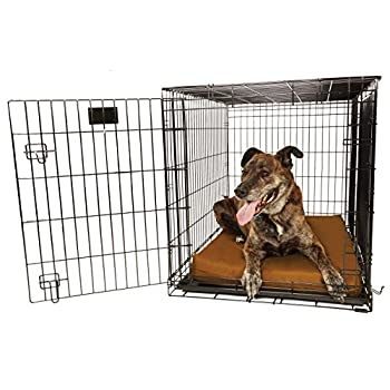 Image of Pet Supplies Orthopedic 4' Dog Crate Pad by Big Barker. Waterproof & Tear Resistant. Thick, Heavy Duty, Tough, Washable Cover. Luxury Orthopedic Support Foam inside. Sized to perfectly fit inside standard crate sizes. Made in USA.