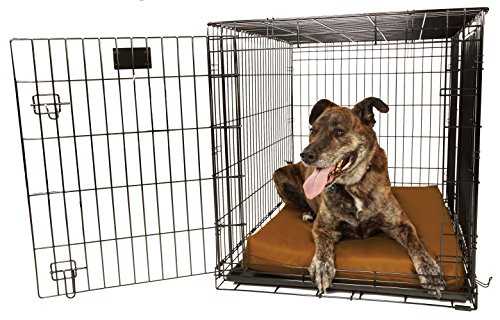 Orthopedic 4'' Dog Crate Pad by Big Barker - 42'' x 28''. Waterproof & Tear Resistant. Thick, Heavy Duty, Tough, Washable Cover. Luxury Orthopedic Support Foam inside. Made in USA. by Big Barker