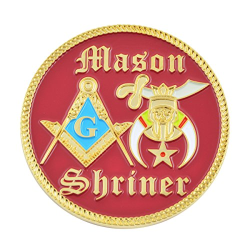 Shriner Red & Gold Masonic Auto Emblem - 2