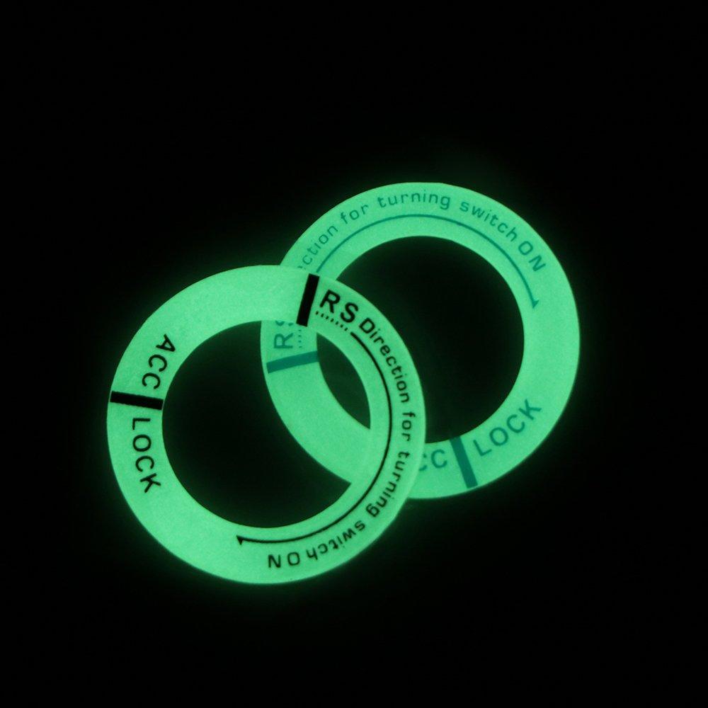 ONEVER Luminous Auto Moto accensione del foro chiave anello Night Glow Decor Sticker