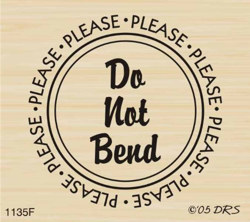 (Do Not Bend Rubber Stamp By DRS Designs)