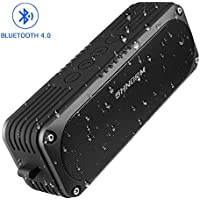 Waterproof Bluetooth Speakers, Portable Small Wireless Shower Speaker with Loud Bass, Suitable for Outdoor Bathroom, Black