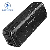 Portable Waterproof Bluetooth Shower Speaker For iPhone Plus etc. - 30m Outdoor Wireless Pair, Loud Bass, Stereo Sound, Built-in Microphone, AUX Input, With Clip,  4400mah USB Rechargeable Battery