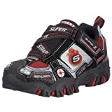 Skechers Toddler Damager-Fire Rescue Hook-And-Loop Light-Up Shoe