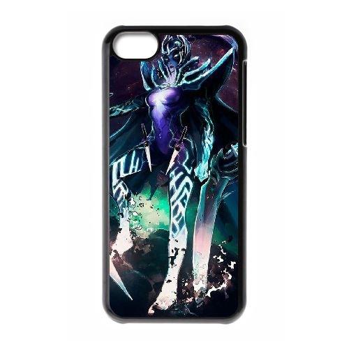 K7Q05 dota K2H6US cas d'coque iPhone de téléphone cellulaire 5c couvercle coque noire DE5XGW6LQ