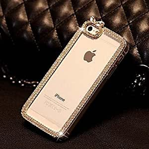 Mini - WHS Protective PVC Case with Diamond Jewel Cover for IPhone 6 Cases 4.7 inch Fashion 2014 , Color-Transparent