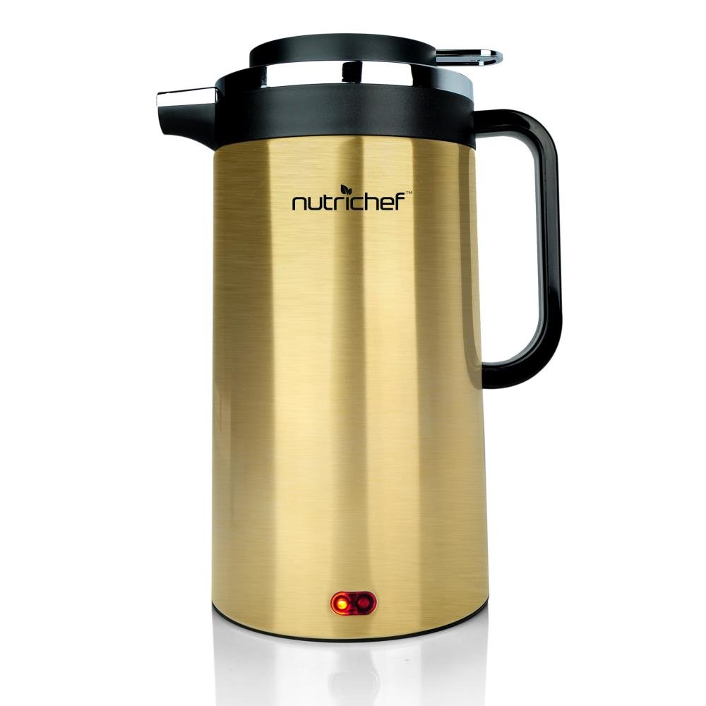 NutriChef AZPKWK23GD Electric Kettle, 2.25 pounds, Gold