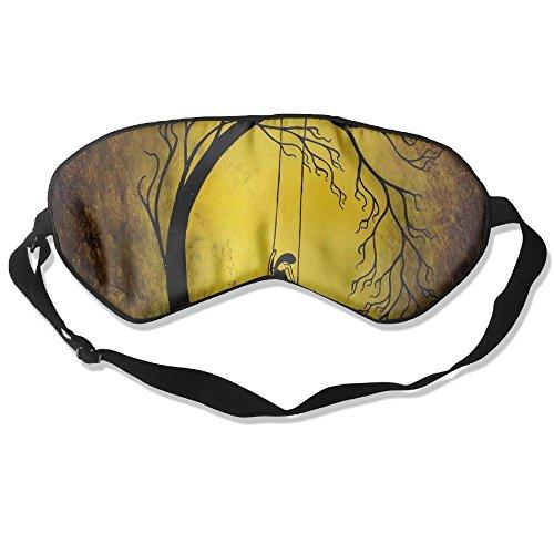 Silk Sleeping Mask Eye Poetry Lightweight Soft Adjustable Strap Blindfold For Night's Sleep Nap Travel Eyeshade Men And Women -