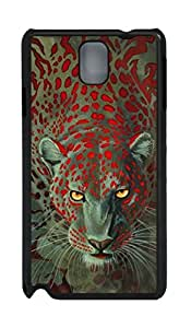 Fashion Style With Digital Art - The Lion of Red Spots Skid PC Back Cover Case for Samsung Galaxy Note 3 N9000