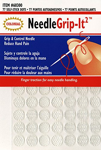 Price comparison product image Colonial Needle 60300 Grip-It II Flexible Self-Adhesive Dot, 77-Pack