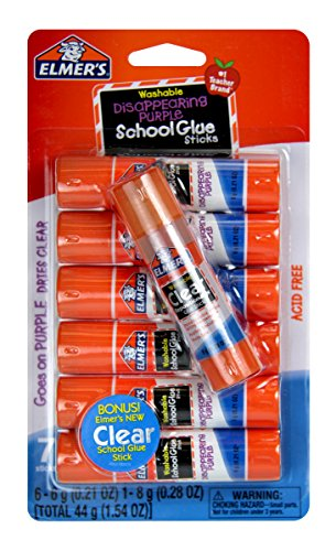 Repositionable Glue Stick Photo Safe - Elmer's Glue Stick (E4062) (7 sticks)