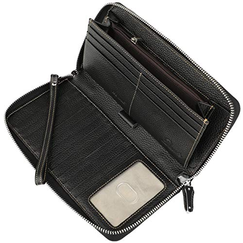 Lavemi-Womens-RFID-Blocking-Leather-Zip-Around-Wallet-Large-Phone-Holder-Clutch-Travel-Purse-Wristlet